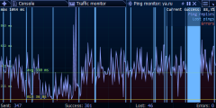 Ping Monitor graph - here is the router reboot