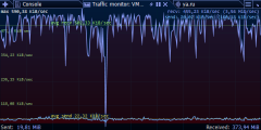 Traffic Monitor - torrent downloading.